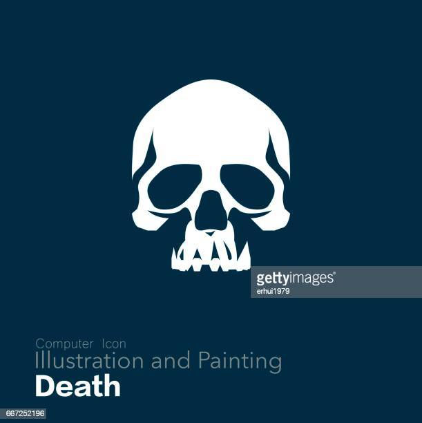 human skull, - terminal illness stock illustrations, clip art, cartoons, & icons
