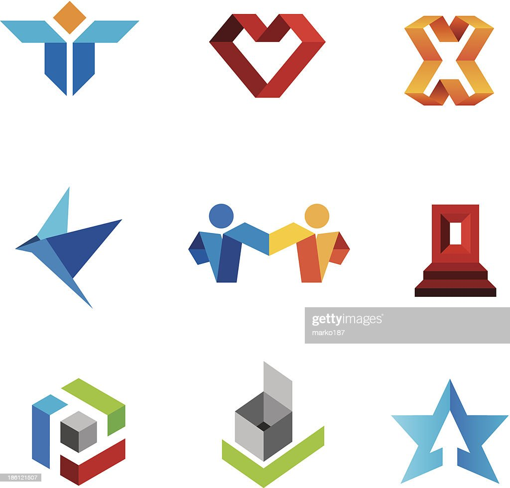 Human social creativity genius in world community logo template