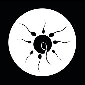 Human sperm cell icon illustration design