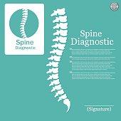 Human spine. Logo element
