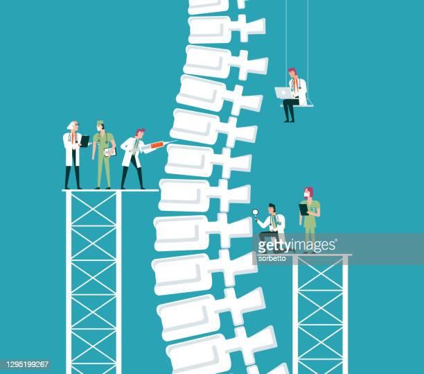 human spine - rheumatism stock illustrations