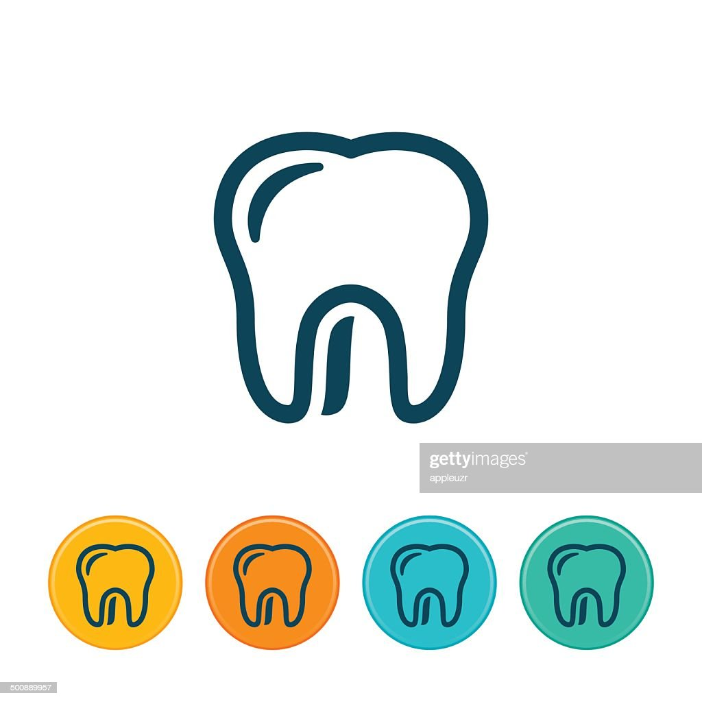 Human Tooth Icon - Outlines
