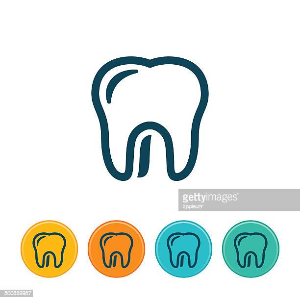 human tooth icon - outlines - human teeth stock illustrations