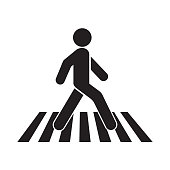 human walk crosswalk icon