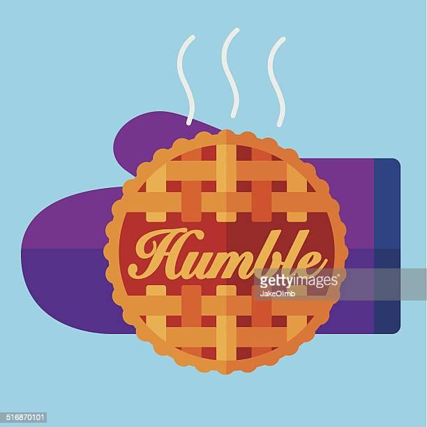 humble pie - apple pie stock illustrations