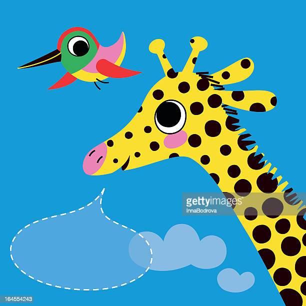 Kolibri und Giraffe