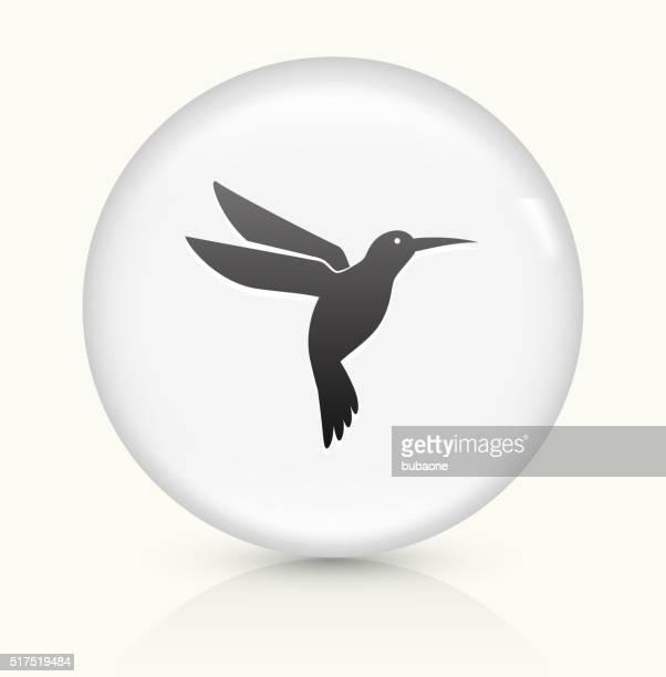 Hummingbird icon on white round vector button
