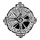Hunab Ku.  Mayan symbol. Vector illustration