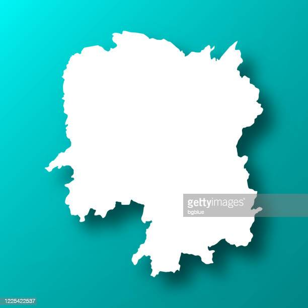 hunan map on blue green background with shadow - changsha stock illustrations