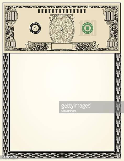 hundred 100 Dollar Bill Money Page