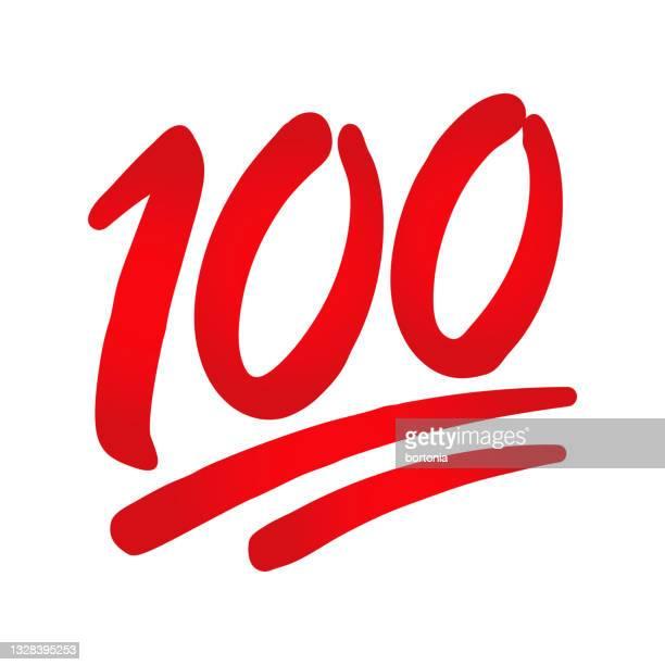 百点絵文字アイコン - 数字の100点のイラスト素材/クリップアート素材/マンガ素材/アイコン素材