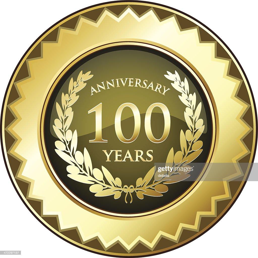 Hundred Years Anniversary Badge