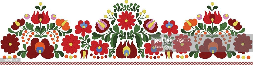Hungarian embroidery border pattern