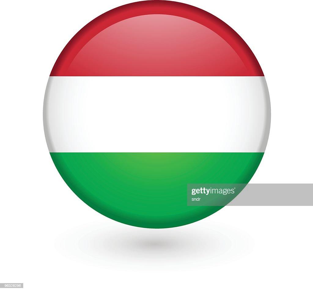 Hungarian flag vector button : stock illustration