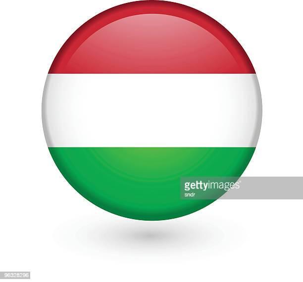 Hungarian flag vector button
