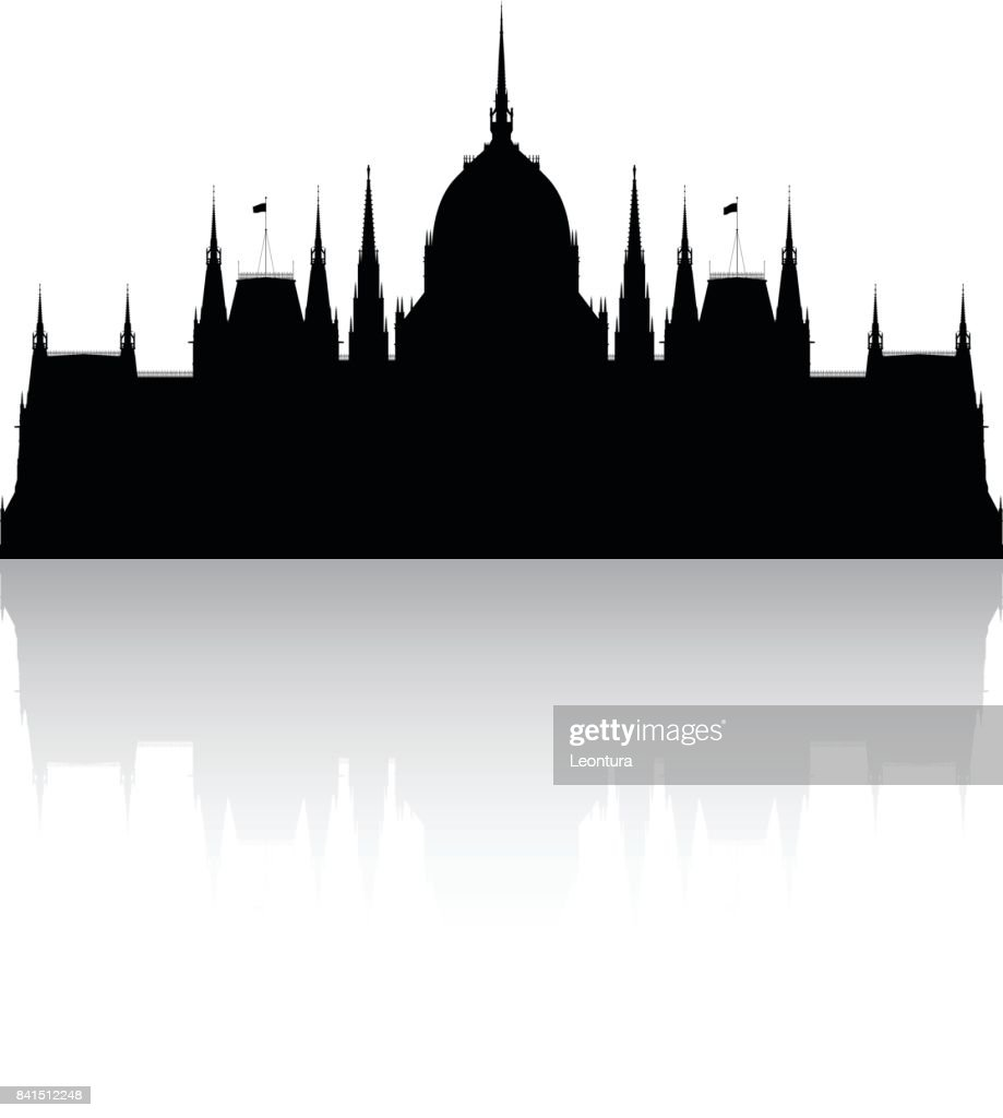 Hungarian Parliament Building : stock illustration