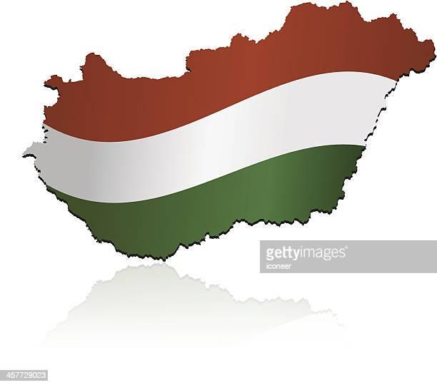 Hungary flag map
