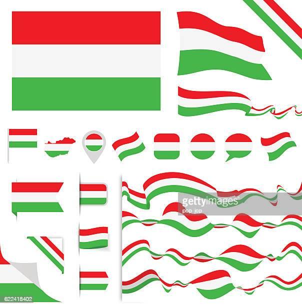 Hungary Flag Set