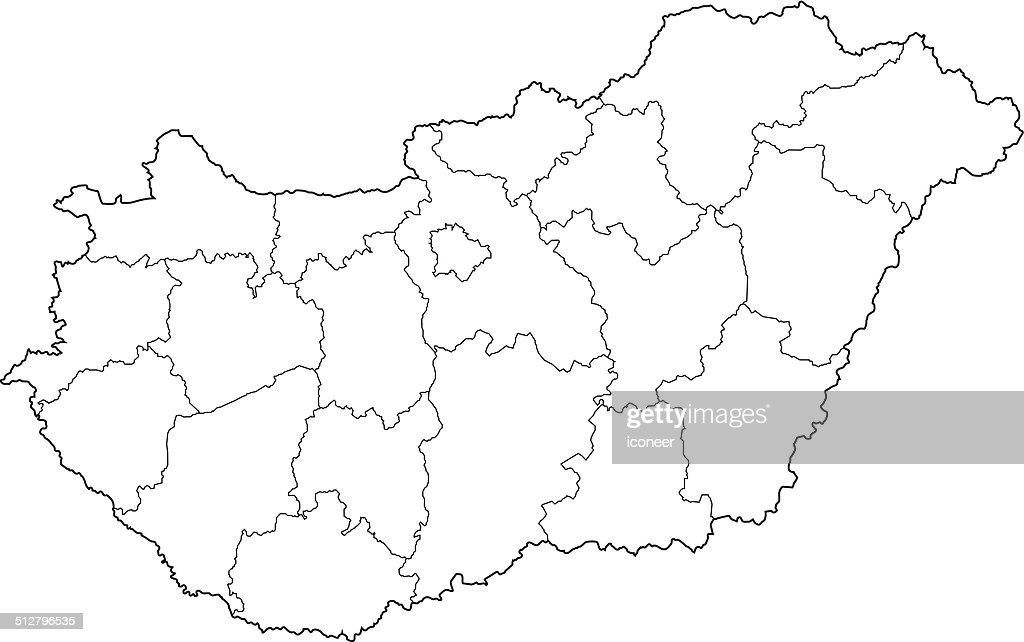 Hungary Map Hungary Buy Maps And Travel Guides Online Paint Color - Hungary blank map
