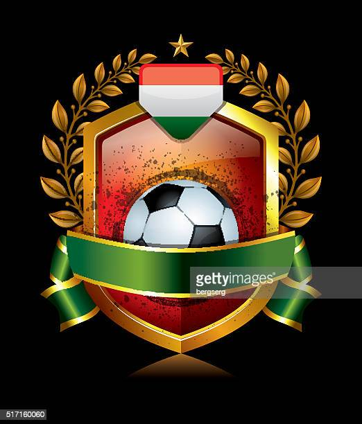 Hungary Soccer Icon with Laurel Wreath