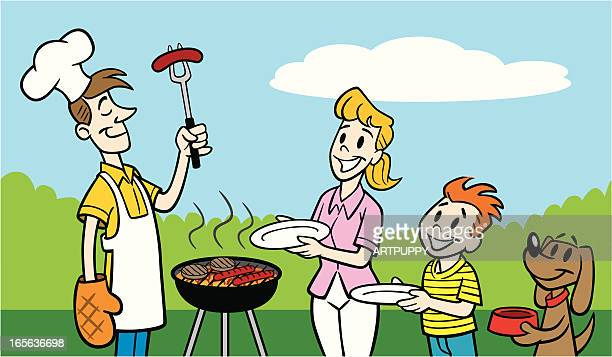 picnic bbq cartoon stock illustrations and cartoons getty images