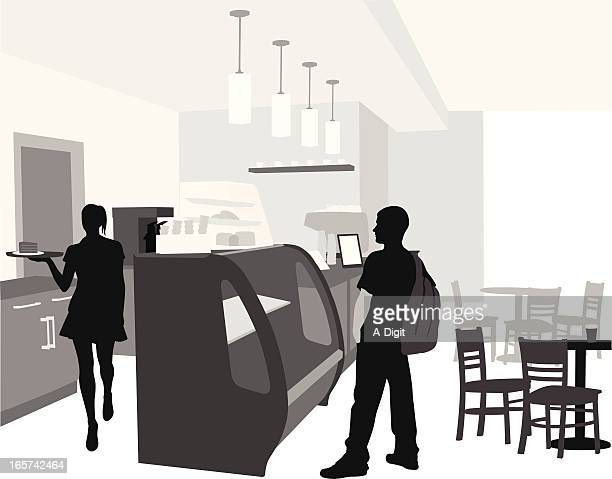 hungry vector silhouette - display cabinet stock illustrations, clip art, cartoons, & icons