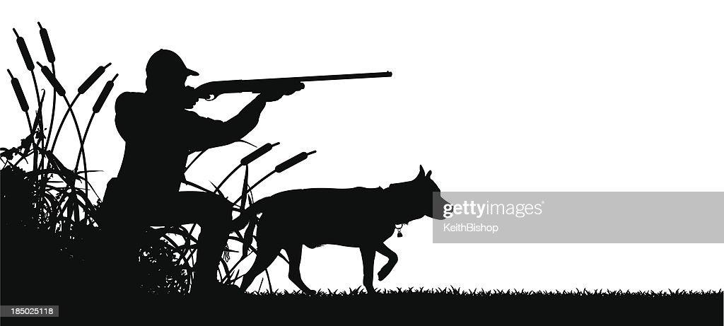 Картинки, картинки охотник и собака черно белые