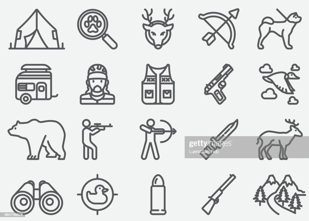 Hunting Line Icons