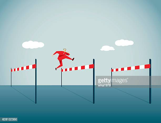 hurdling - hurdle stock illustrations