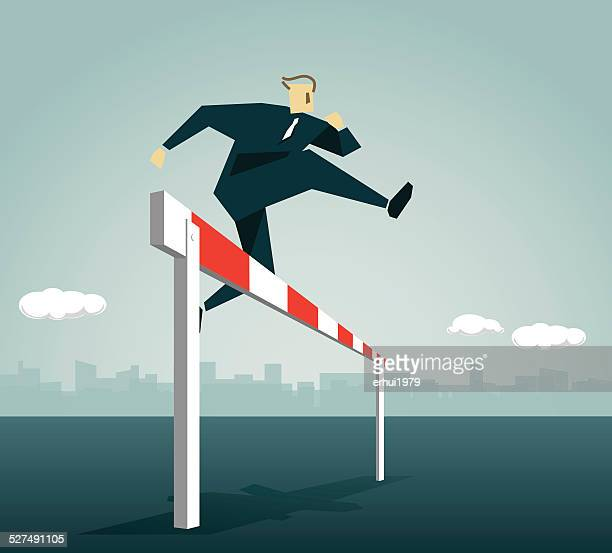 hurdling,conquering adversity,  strong,race, overcome, goal, fast,victory - hurdle stock illustrations
