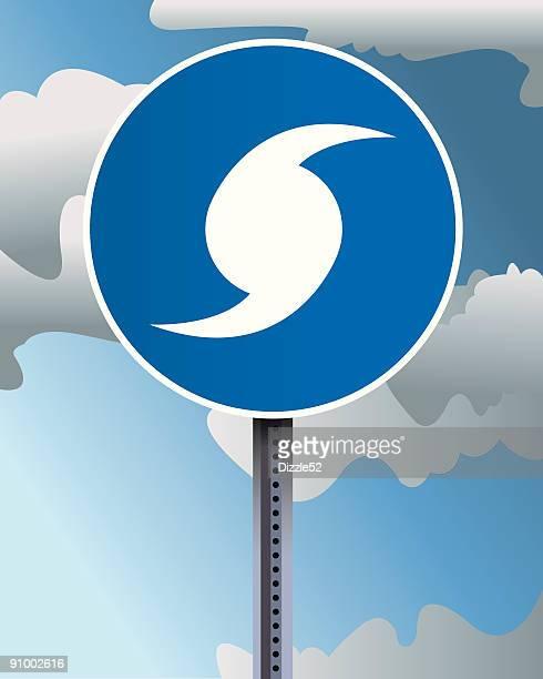 hurricane evacuation sign - hurricane stock illustrations, clip art, cartoons, & icons