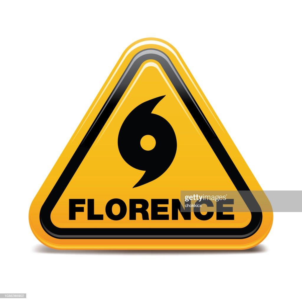 Hurricane Florence : stock illustration