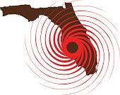 Hurricane Over Florida. Vector Illustration