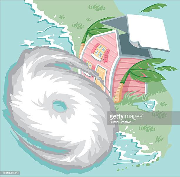 hurricane - cyclone stock illustrations, clip art, cartoons, & icons