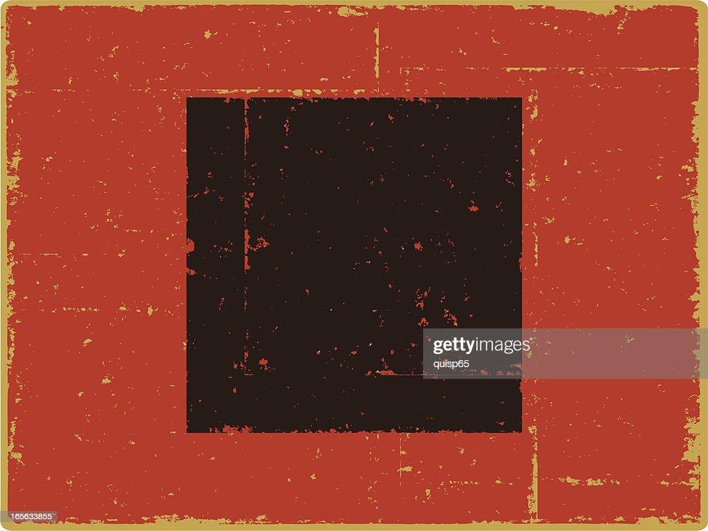 Hurricane Warning Flag : stock illustration