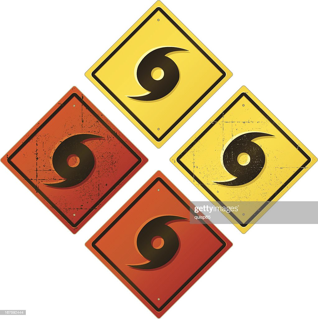 Hurricane Warning Sign Vector Art Getty Images