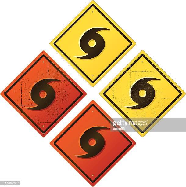 hurricane warning sign - hurricane stock illustrations, clip art, cartoons, & icons