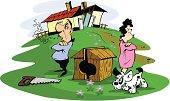 Husband and wife quarreled