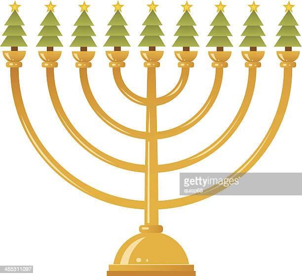 hybrid holiday symbol - hanukkah stock illustrations, clip art, cartoons, & icons