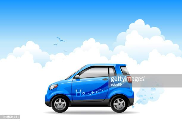 hydrogen car - compact car stock illustrations, clip art, cartoons, & icons