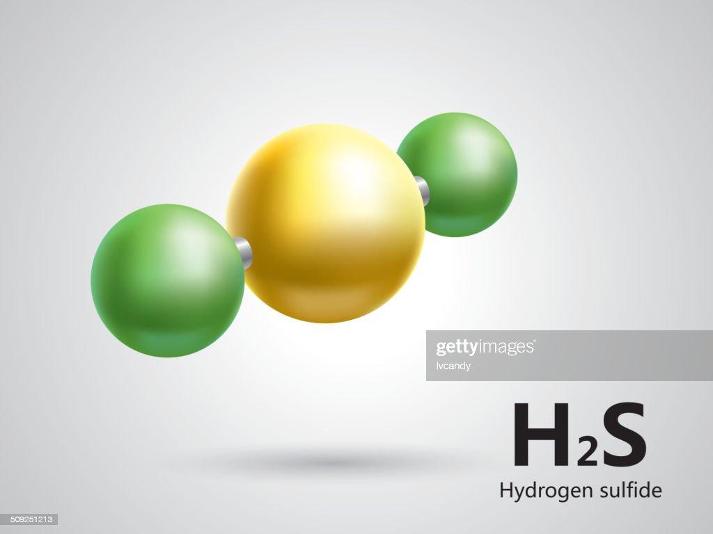 Hydrogen sulfide molecular model