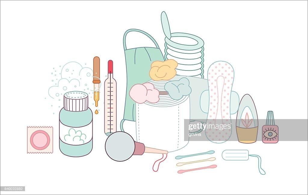 Hygiene elements groups