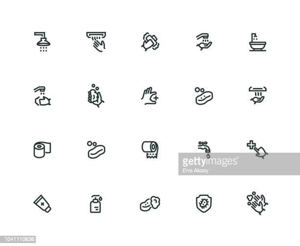 Hygiene Icon Set - Thick Line Series