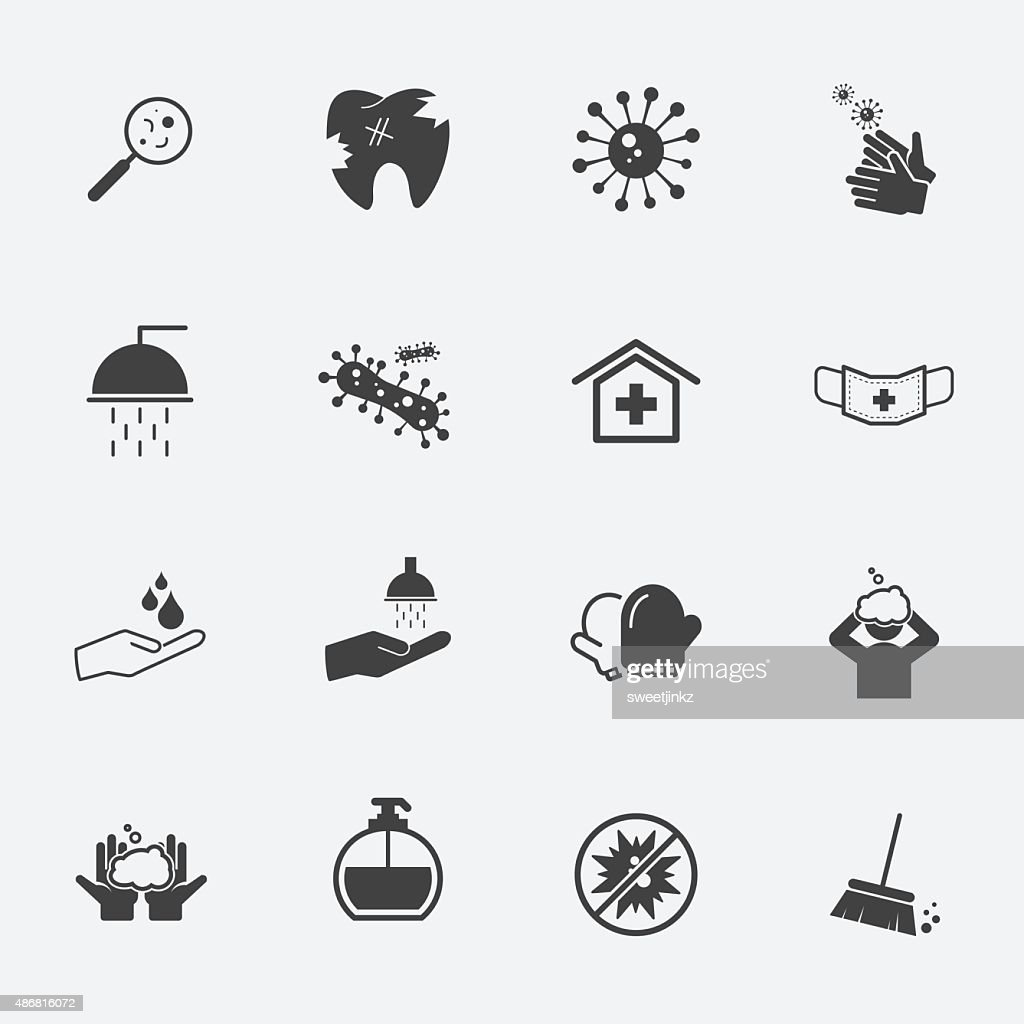 hygiene icons set.vectorillustration.