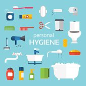 Hygiene icons vector set isolated on white background