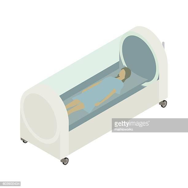 高圧室のイラスト - 高気圧酸素療法点のイラスト素材/クリップアート素材/マンガ素材/アイコン素材