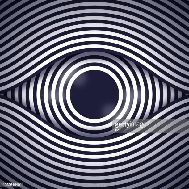 hypnosis eye - surveillance stock illustrations