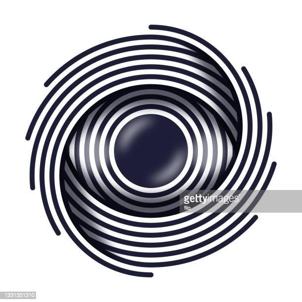 hypnosis illuminati line drawing eye - hypnosis stock illustrations