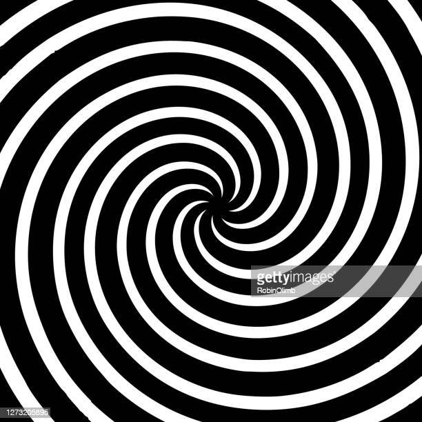 hypnotic black and white swirl - hypnosis stock illustrations