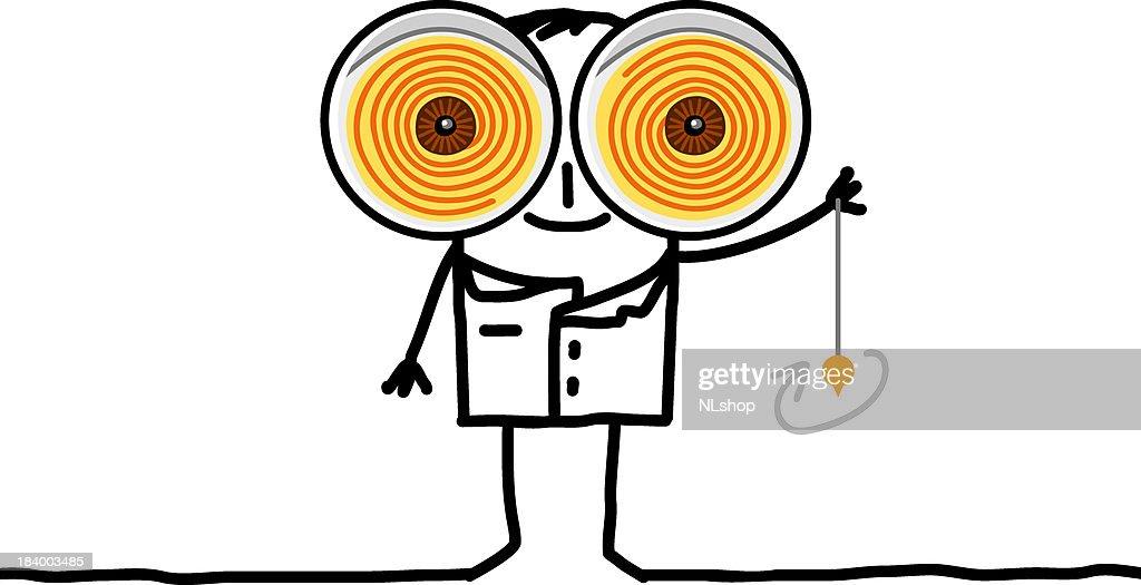 hypnotist with big eyes